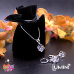 Lumini Pendant and Earrings Set: Swarovski Elements Cube