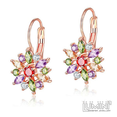 Lumini Rose Gold Earrings: Northern Star