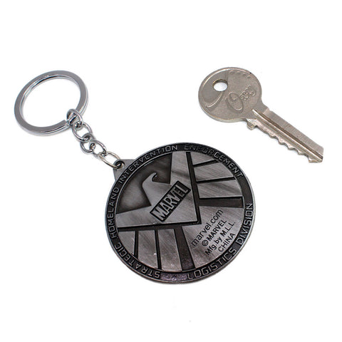 Marvel: Avengers S.H.I.E.L.D Brushed Silver Keychain
