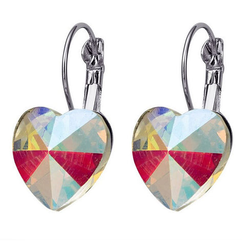 Multicolor Heart Drop Earrings
