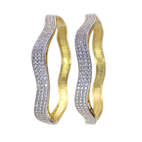 Set of Two Golden Bangles: Pure Elegance