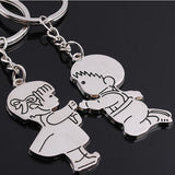 Set of Two Keychains: Boy Proposing to a Girl