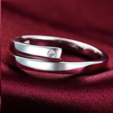 Set of Two Silver Plated Adjustable Rings