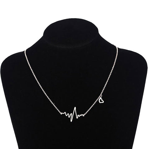 Silver Heartline Pendant Necklace