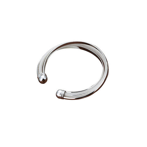 Silver Plated Classy Adjustable Bangle Bracelet