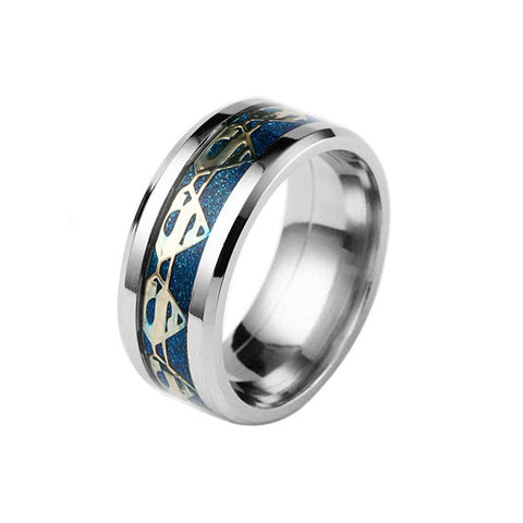 Superman: Blue and Gold Stainless Steel Ring
