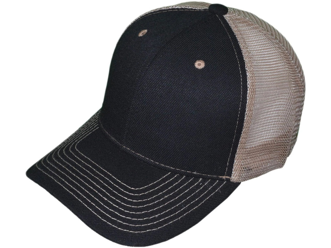 Leather Patch Structured Mesh-Back Hats