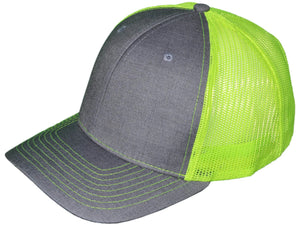 Leather Patch 6 Panel Mesh-Back Hats