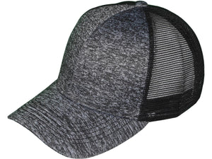 Leather Patch Structured Mesh-Back Marble Hats