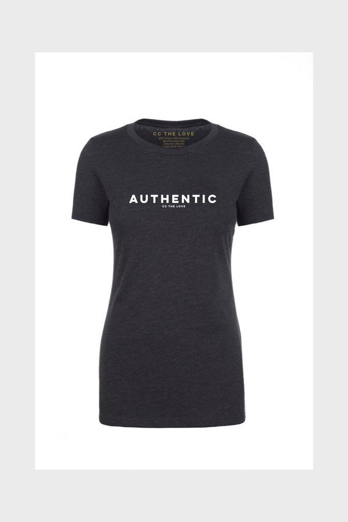 women's authentic shirt charcoal