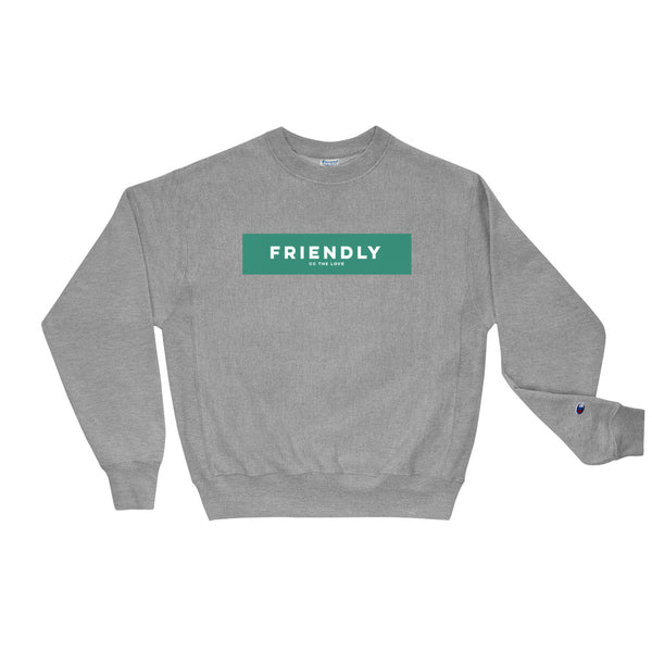 Unisex Friendly Champion Sweatshirt Oxford Grey