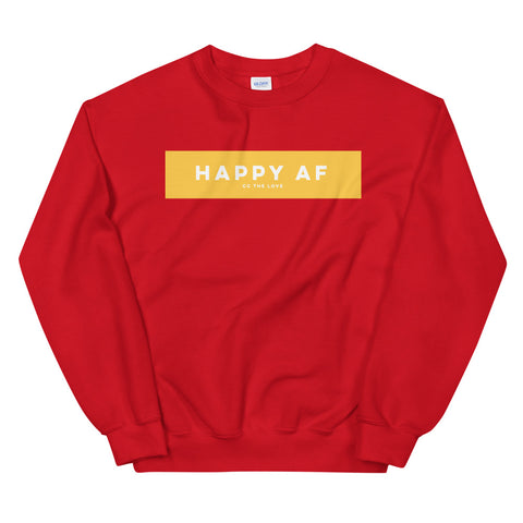 Women's Happy AF Sweatshirt