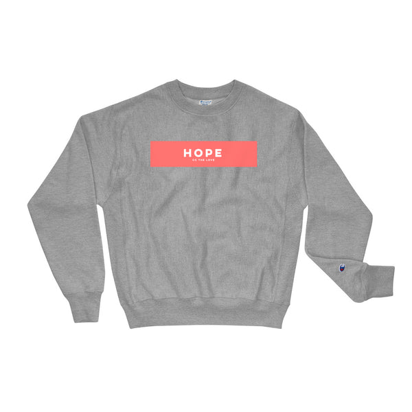 Unisex Hope Champion Sweatshirt Oxford Grey
