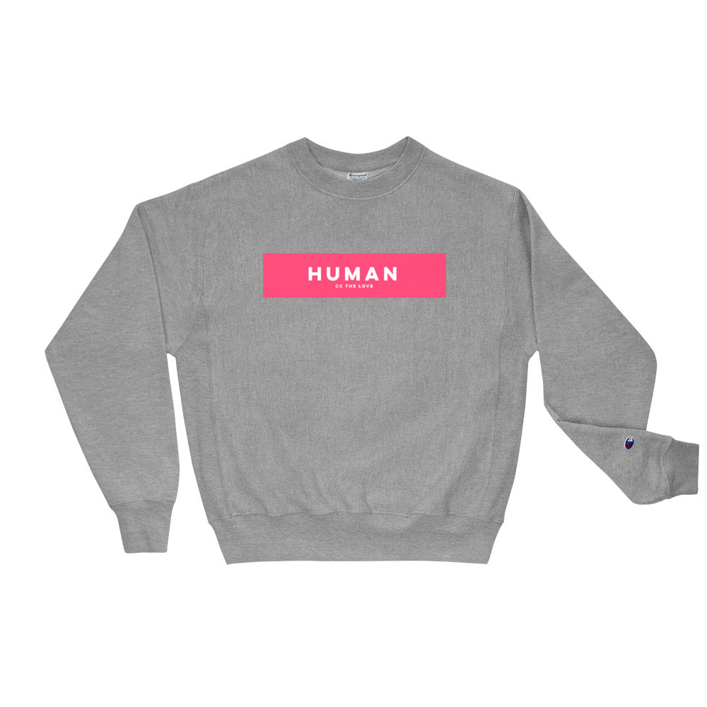 Unisex Human Champion Sweatshirt Oxford Grey
