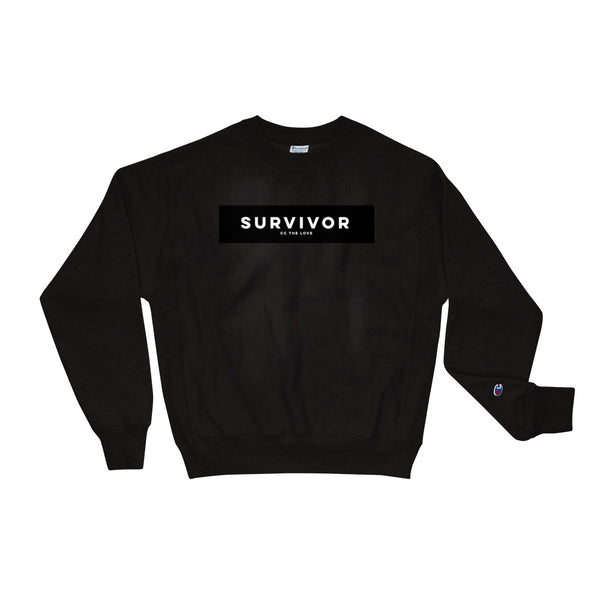 Unisex Survivor Champion Sweatshirt Black
