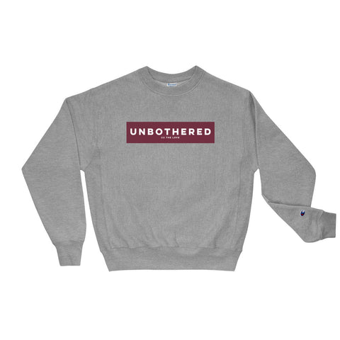 Unisex Unbothered Champion Sweatshirt Oxford Grey