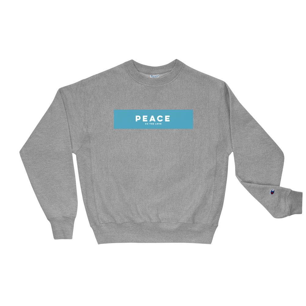 Unisex Peace Champion Sweatshirt Oxford Grey