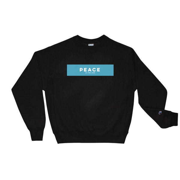 Unisex Peace Champion Sweatshirt Black