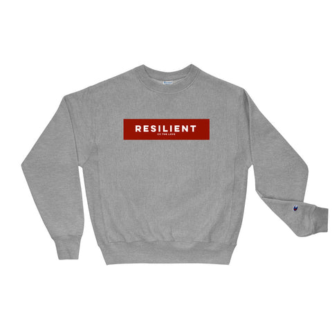 Unisex Resilient Champion Sweatshirt Oxford Grey