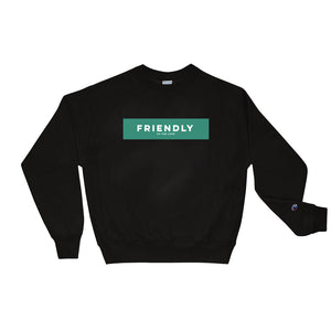 Unisex Friendly Champion Sweatshirt Black