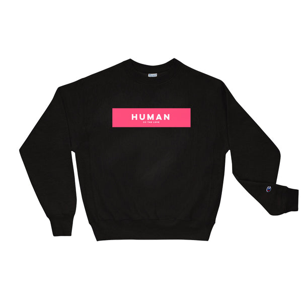 Unisex Human Champion Sweatshirt Black