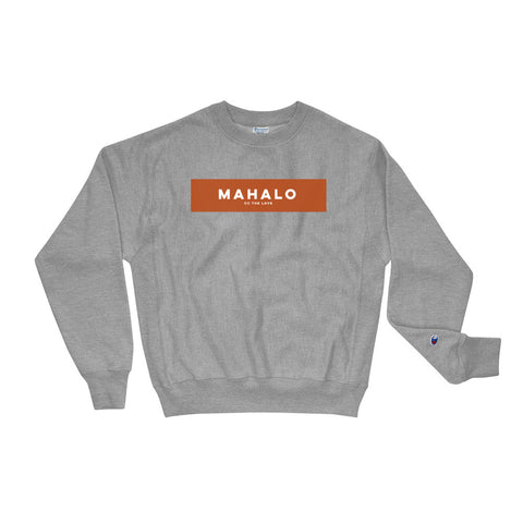 Unisex Mahalo Champion Sweatshirt Oxford Grey