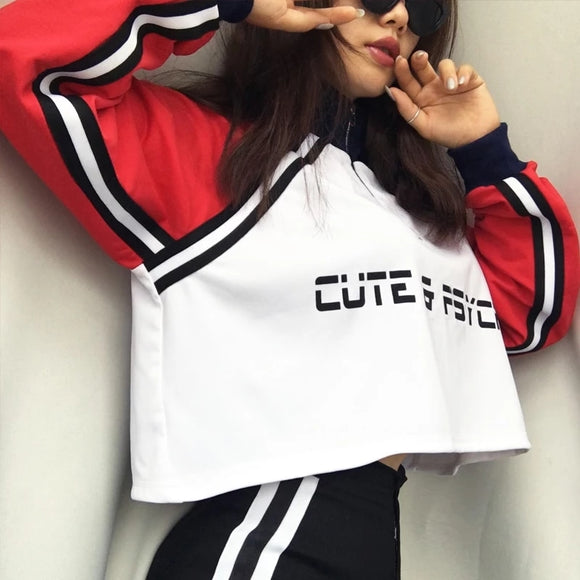 Cute & pysco Zipper Crop Top