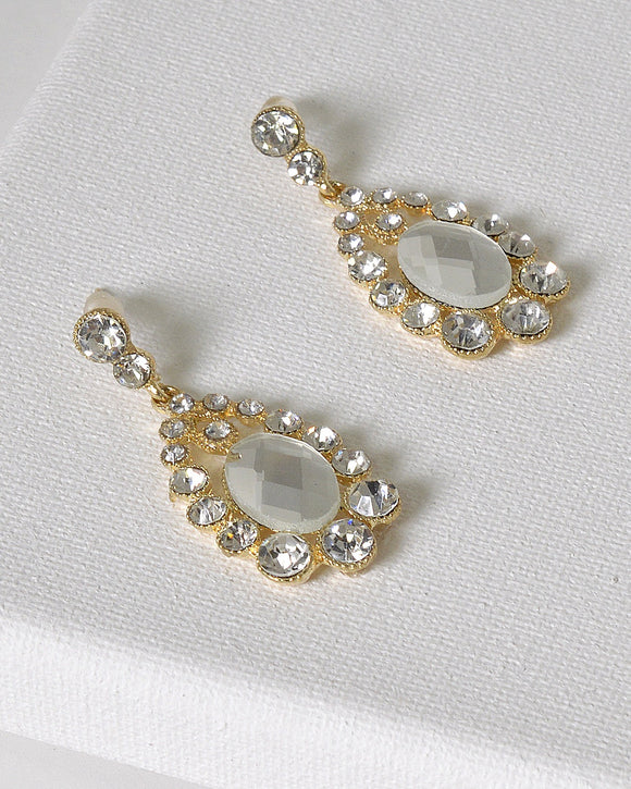 Stylish Crystal Studded Danglers