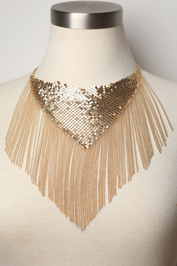 Chainmail with Chain-link Bib Necklace
