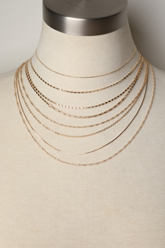 Eight Layered Chain-Link Necklace