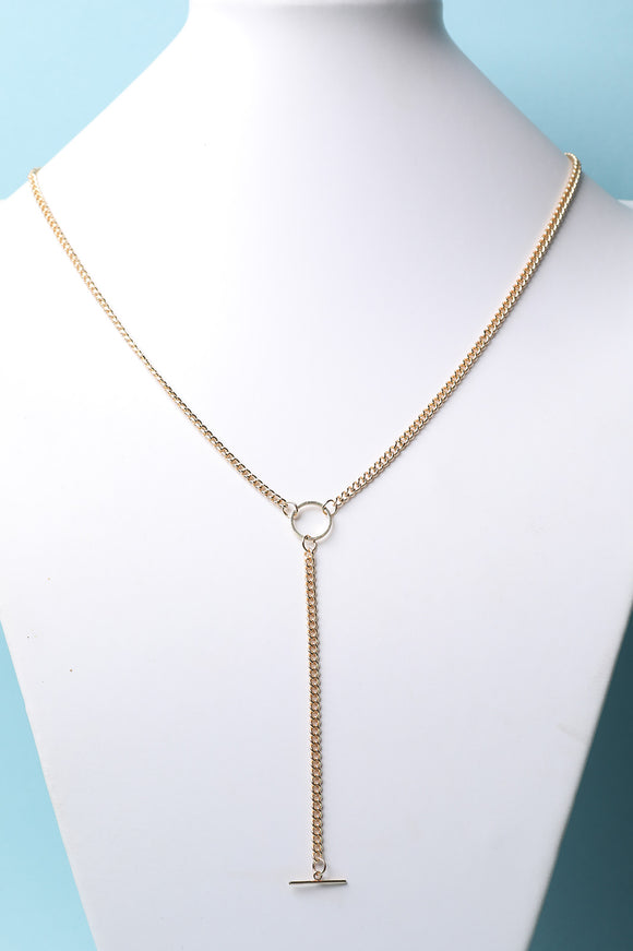 O-Ring Link Layered Necklace Set