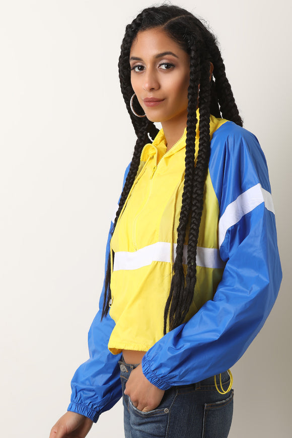 Color Panel Track Windbreaker Jacket