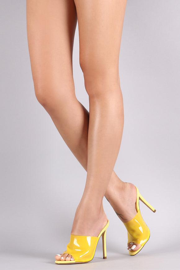 Clear Band Peep Toe Stiletto Mule Heel