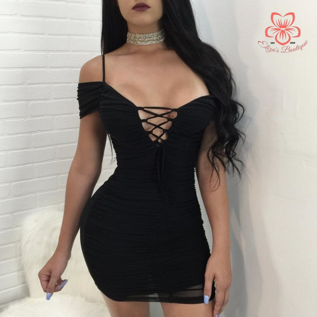 ... Bonnie Forest Angel Dust Women V Neck Off The Shoulder Sexy Dress 2017  Summer Draped Solid ... 2ced509c84f9