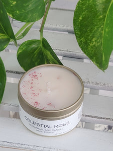 Celestial Rose Botanical Soy Candle