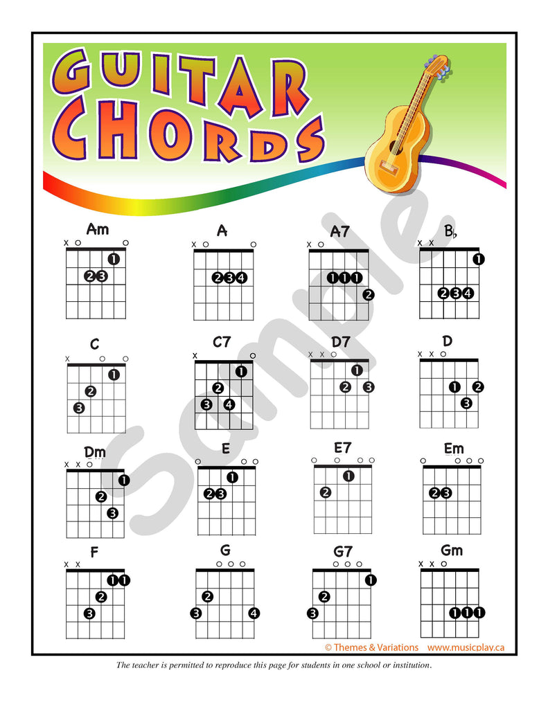 Musicplay Kindergarten Guitar And Ukulele Arrangements Themes And