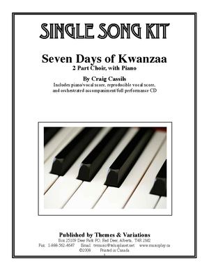 seven days of kwanzaa single song kit download themes and variations