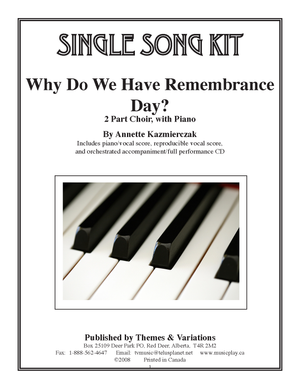 Why Do We Have Remembrance Day? Single Song Kit Download