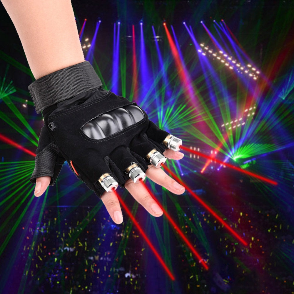 Red Green Party Laser Gloves-WWW.NOVELTYHOMEONLINE.COM
