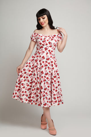 Collectif Dolores Strawberry 1950s Dress
