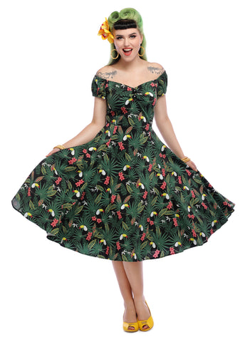 Collectif Dolores Tropicalia 1950s Dress