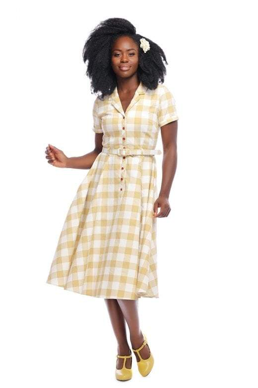 Collectif Vintage Caterina Gingham 1950s Dress - I love the 50s