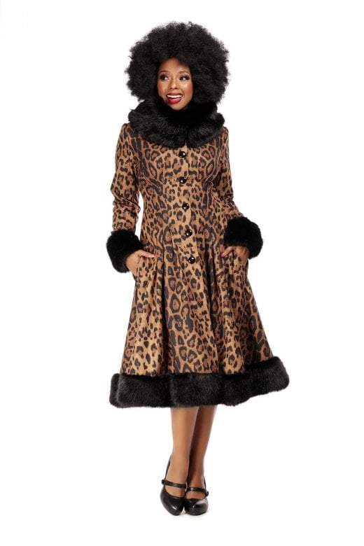 Collectif Vintage Pearl Leopard Print 1950s Coat - I love the 50s