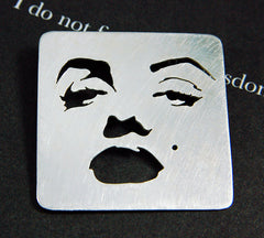 Marilyn brooch - Handmade Jewelry by Simone Walsh - indie design, metalwork, contemporary craft