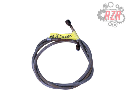 "Image of RZR 570 800 900 1000 56 1/2"" Rear Brake Line Polaris OEM - #1461"