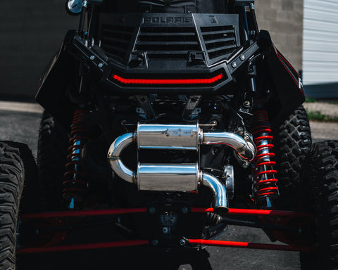 Image of RZR XP Turbo Tamed Trail Exhaust by Force Turbo