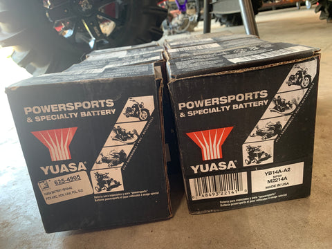 Image of Powersports Battery Yuasa YB14A-A2