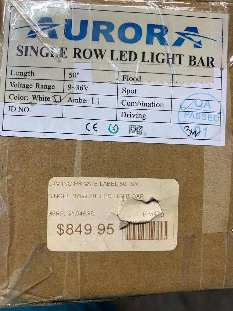 "50"" Single Row Private Label Lightbar High Quality Super Bright"
