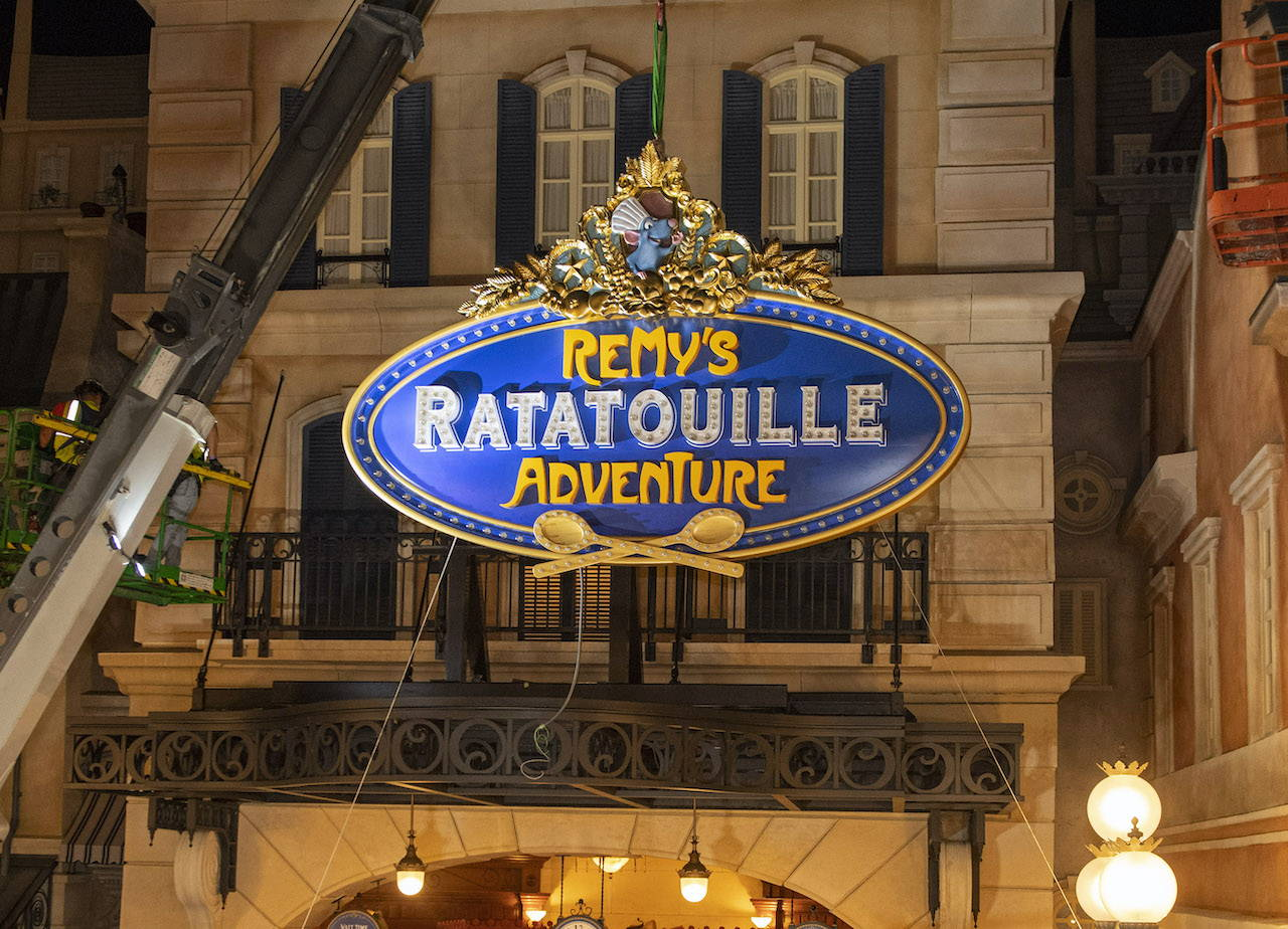 Remy's Ratatouille Adventure to Open in 2021, Marquee Sign Installed