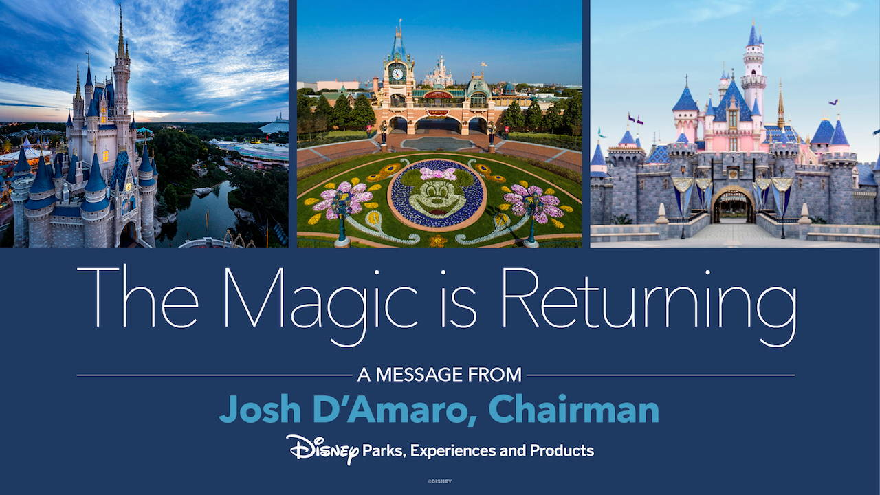Josh D'Amaro Pens a Note to Disney Fans: The Magic Is Returning